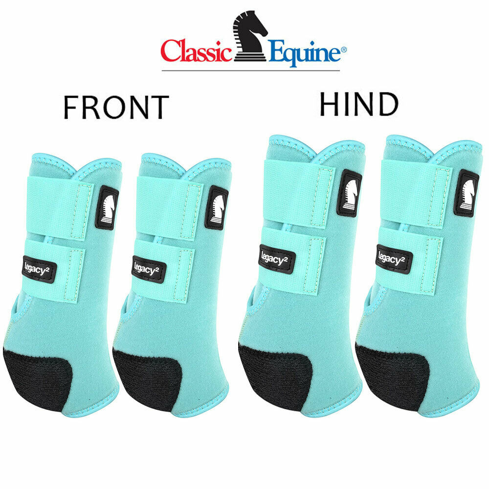 Classic Equine Legacy2 Horse Front Hind Sports Stiefel 4 Pack Mint U-02MT