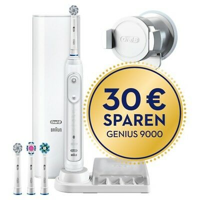 Braun Oral-B Elektrozahnbürste Genius 9100S White elektrische Zahnbürste in weiß