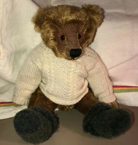 Vintage-Handcrafted-Mohair-Hump-Back-Teddy-Bear-Fully-Articulated