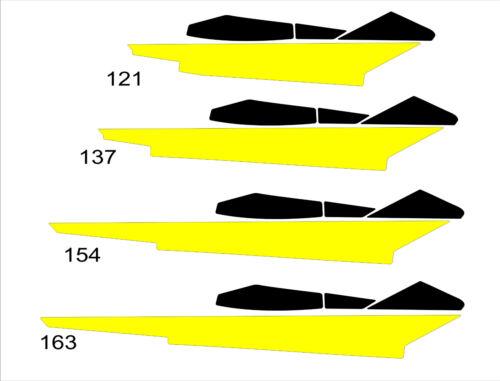 TUNNEL GRAPHIC WRAP SKI DOO BRP REV XP XM XR XS summit 120 137 146 154 163 black