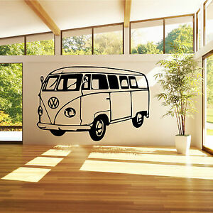 VW CAMPER VAN Vinyl Wall Art Sticker Decal Bedroom Living