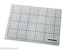 transotype Schneidematte DIN A4 Unterlage Schneidmatte Bastel-Matte transparent