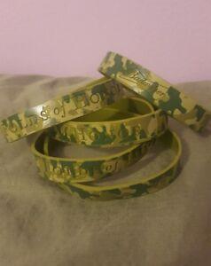 Image Is Loading 5 Budweiser Silicone Wristband Bracelets Camo Folds Of