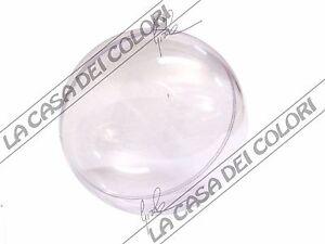 Addobbo In Plastica Trasparente - Forma Sfera - Varie Dim. - Decoupage