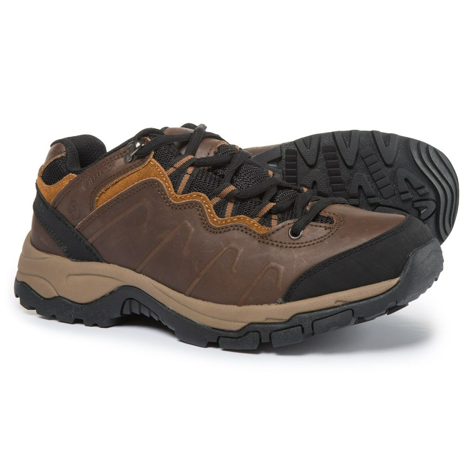 Mens Hiking shoes Waterproof Northside Talus Low Trail Sneakers Brown NEW