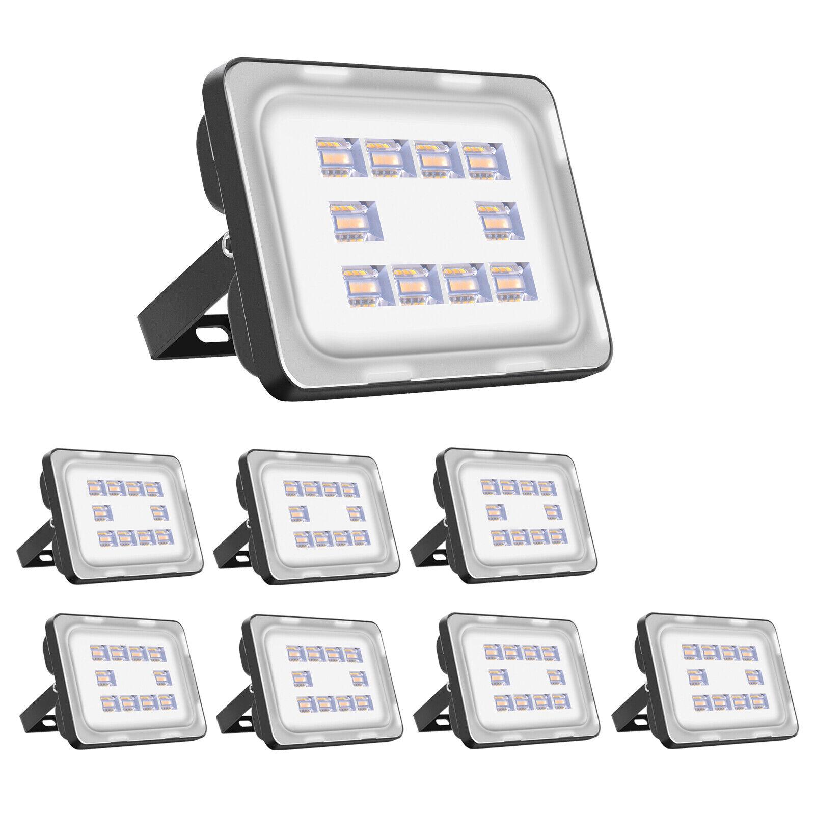 8x30w LED emisor eh blancoo cálido reflector colocado exterior bombilla de faro luz ip65