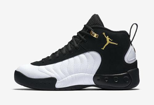 Authentique Nike Air Jordan Jumpman Pro Noir S'Est Réuni Doré Blanc 906876 032