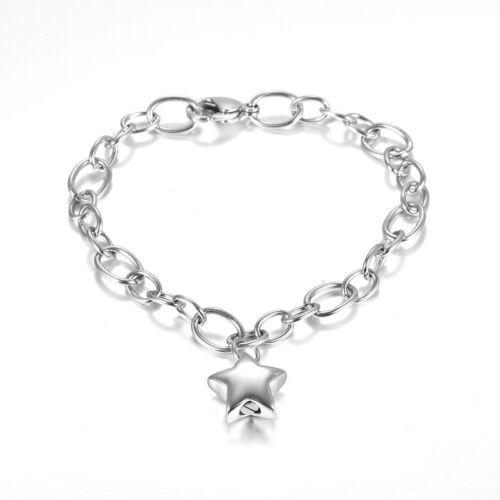 Star Crémation Memorial Bracelet Cendres Urne Support médaillon Souvenir Bracelet