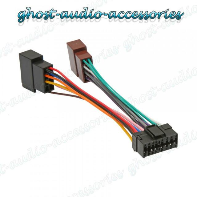 stereo wiring harness rz sprachentogo de \u2022 car stereo harness diagram sony 16 pin iso car stereo replacement radio wiring harness lead rh ebay com stereo wiring