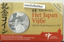 NEDERLAND   2009    Het Japan  Vijfje      Verzilverd 5 Euro Munt in COINCARD