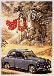 Farb-Plakat-Fiat-1400-1951-Oldtimer-Automobil
