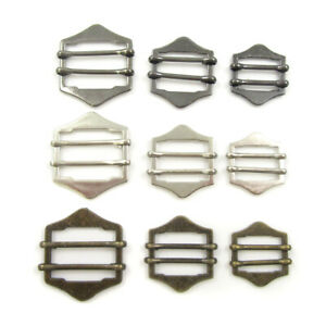 TWO-BAR-SLIDER-ADJUSTER-BUCKLE-METAL-DIY-STRAP-CRAFTS-PROJECTS-BAGS-DUNGAREES