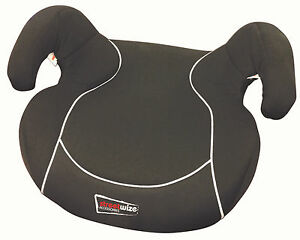 Black-Padded-Child-Junior-Padded-Booster-Car-Seat-Cushion-15-36kg-Age-3-12