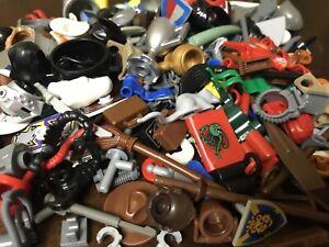 LEGO Minifigure Bulk Accessories LOT x 25 RANDOM Weapons Tools hats City parts