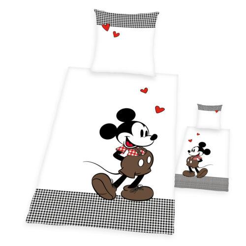 Bettwäsche glatt 90 Jahre Mickey Mouse Retro Walt Disney 135 x 200 Geschenk NEU