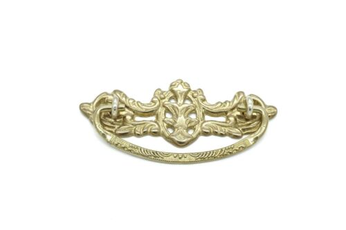 """DRAWER PULLS FURNITURE DRAWER PULLS 3/"""" CC SOLID CAST BRASS ANTIQUE STYLE"""