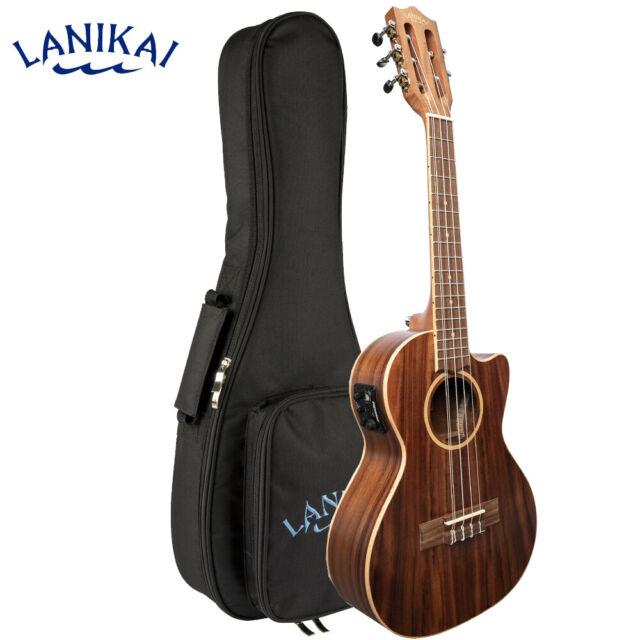 Lanikai Solid Top Acacia 8 String Tenor Electric Ukulele Case Us For Sale Online Ebay