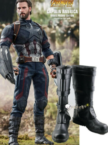 NEW The Avengers Captain America 4 cosplay boots shoes HH.1052