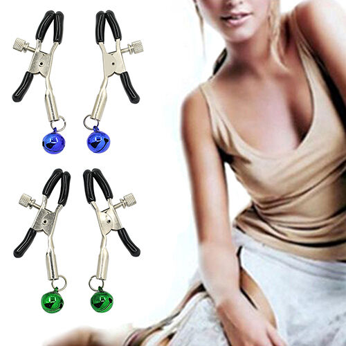 1 Pair Women's Lady's Chic Product Nipple Adornment Bell Clip Non Piercing F