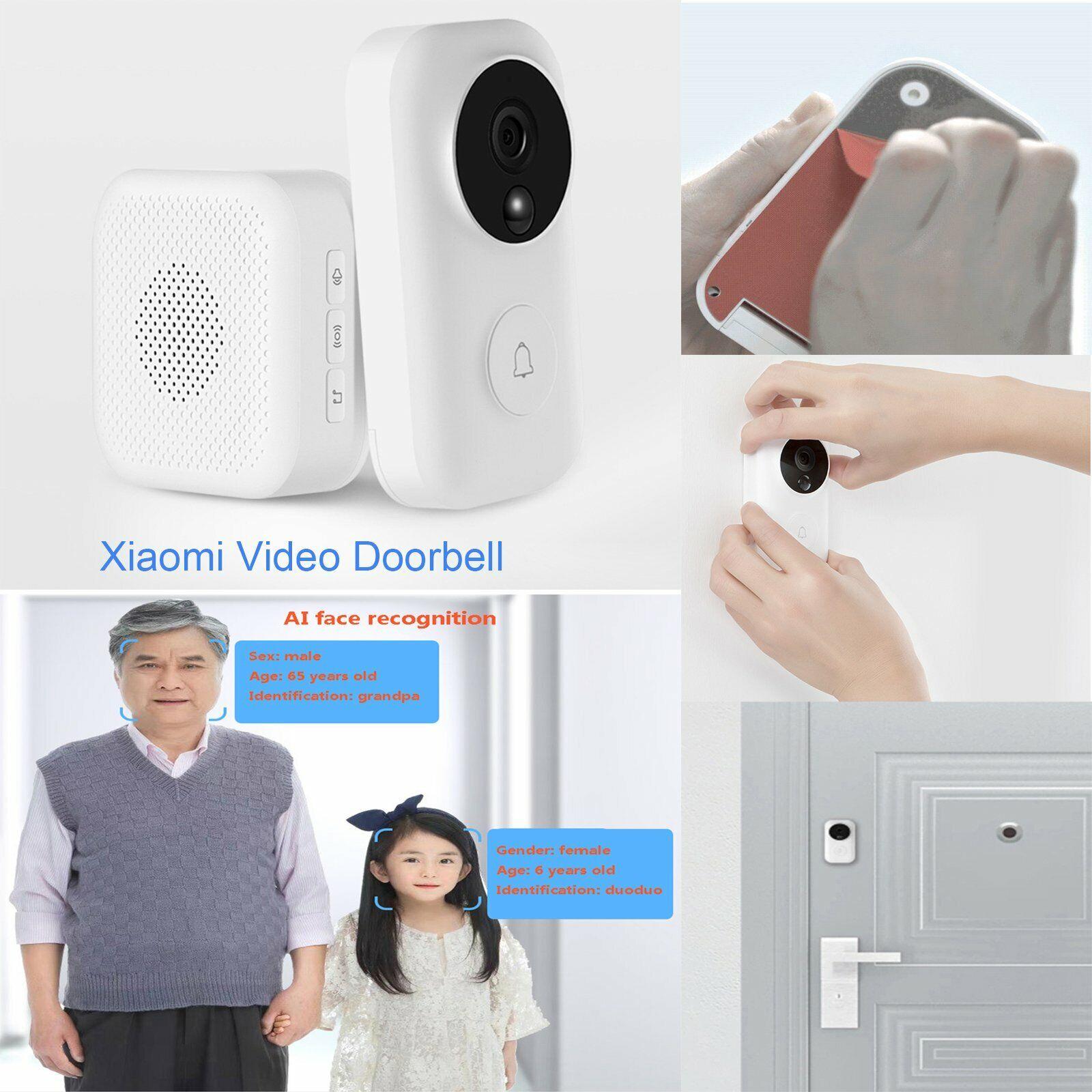 Xiaomi Zero Intelligent AI Face Identification Bell 720P WiFi Video Doorbell Set