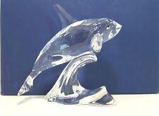 Swarovski Figurine Orca Whale Crystal Glass 622939 Retired 2005 Swan Logo