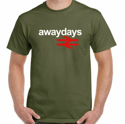 Away Days T-SHIRT British Rail Homme Rétro Football Hooligan MADE FOR permanent