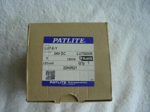 NIB  Patlite  Yellow LED Module 24VDC       LU7-E-Y