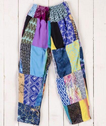 Gringo Patchwork Baggy Pants Pantaloni commercio equo e solidale Festival Etnico Yoga elastico
