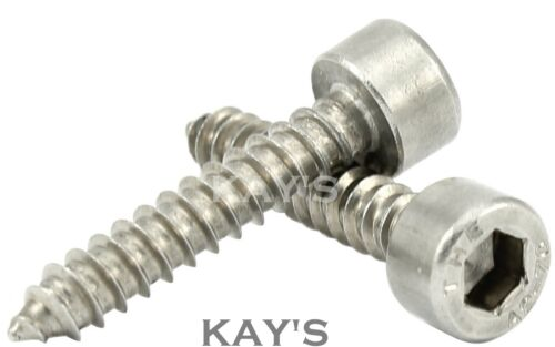4.8mm SOCKET CAP SELF TAPPING SCREWS A2 STAINLESS STEEL ALLEN KEY TAPPERS No.10