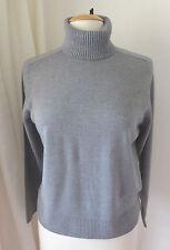 ESCORPION was £59.99 Grey Marl Fine Wool Polo neck Jumper M- 12 / 14 Casual Work