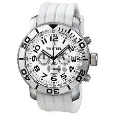 TW Steel Grandeur Diver Chronograph White Dial White Rubber Mens Watch TW95