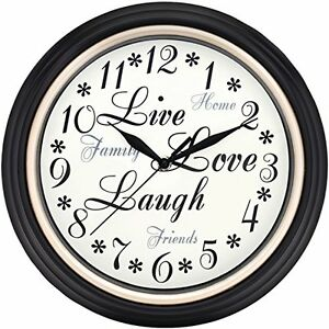 Westclox-32032-Round-Live-Love-Laugh-Message-Clock-12-Inch