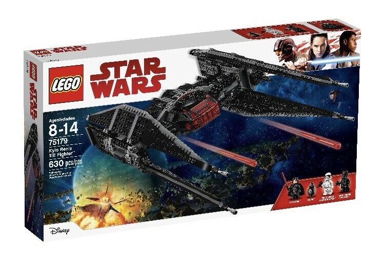 Lego Star Wars Episodio VIII Kylo Ren's Tie Fighter 75179 Kit de Construcción Juguete 630pc