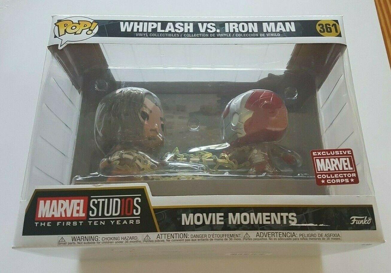 Funko Pop Marvel 361 Whiplash VS. Iron Man Collector Corps Exclusive