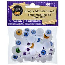60 Googly Wiggle Monster Eyes Teacher Supply Halloween Craft Decorations