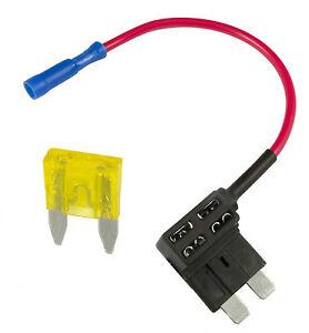 15A Motor de Coche Interruptor de circuito Añadir el Mini Portafusibles PIGGYBACK