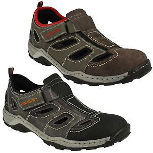 Shoes Out Summer Casual On Mens Leather Rieker About Outdoor Details Slip Cut Riptape 08075 GUVSMpqz