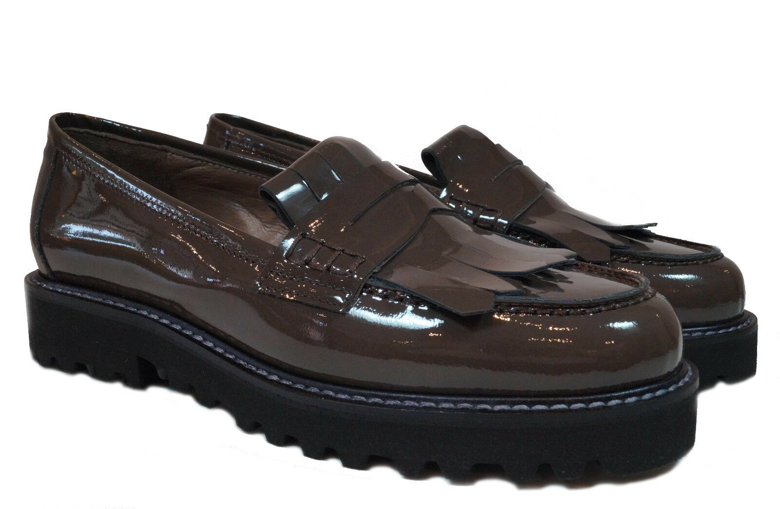 CENEDELLA Schuhe Slipper Artikel: P132 Gr.36 Asiavernice taupe Lackleder Italy Gr.36 P132 38e694