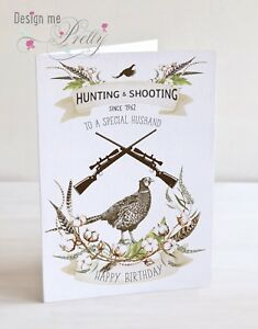 Personalised A5 Hunting And Shooting Birthday Card Husband