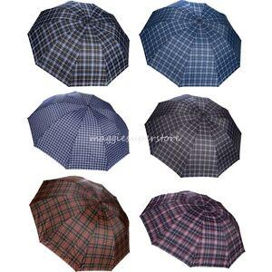 50 vintage tartan plaid umbrella women anti uv compact folding rain parasol. Black Bedroom Furniture Sets. Home Design Ideas