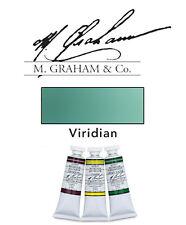 M Graham Watercolor 15ml Tube Viridian 33-195