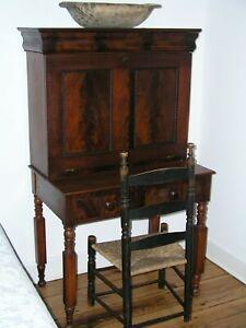 Antique 2 Piece Walnut Plantation Desk Ca 1890 S Hidden