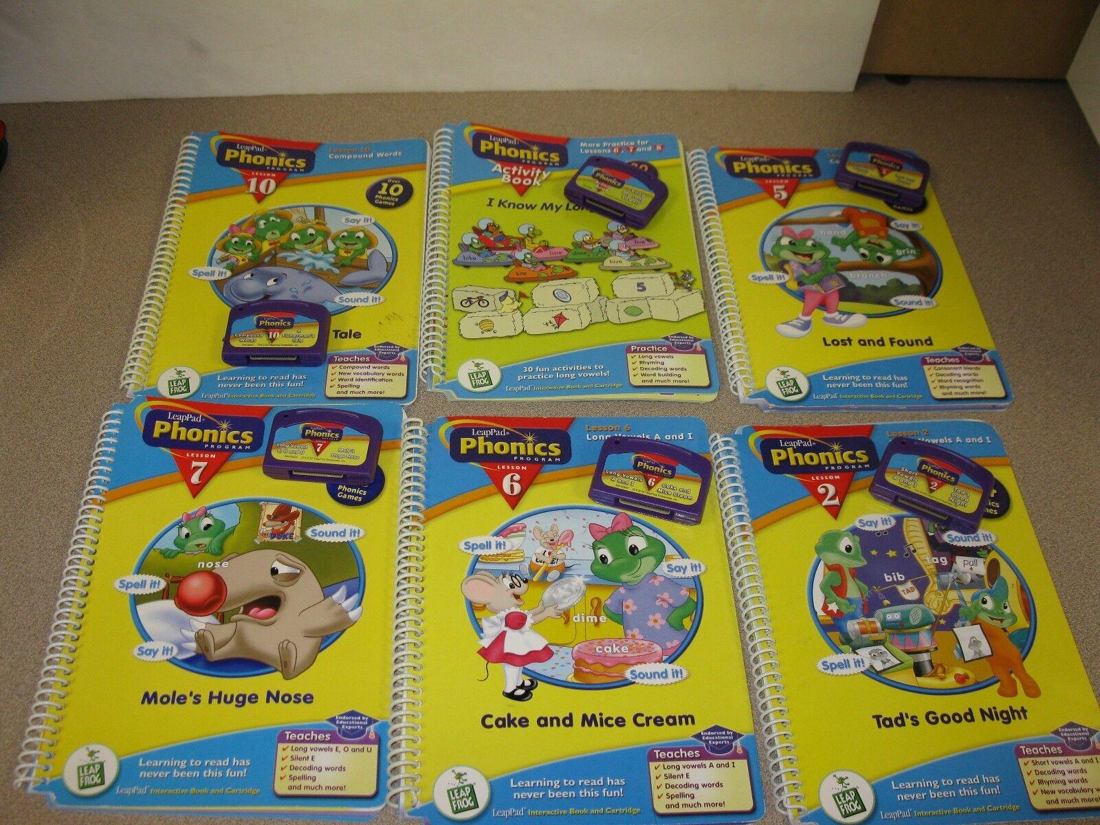 6 LEAPPAD PHONIC PROGRAM ACTIVITY BOOK LESSON   CARTRIDGES