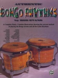 Authentic Bongo Rythmes Bongo Tambour Musique Livre Apprendre à Jouer Méthode-afficher Le Titre D'origine Ture 100% Garantie