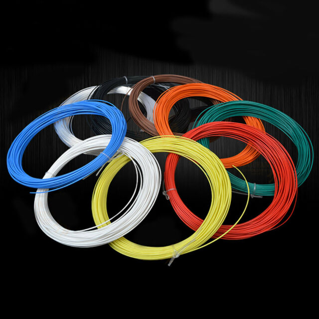 5metres green 19//0.15 22AWG PTFE wire silver plated copper wire