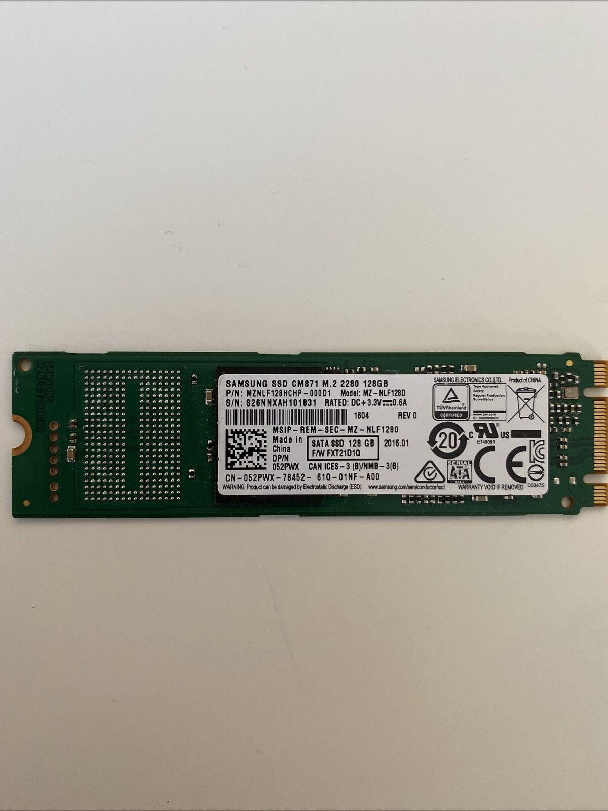 Samsung 128GB M.2  2280 Solid State Drive SSD. Buy it now for 20.00