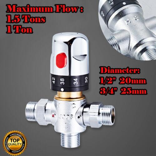 20-25MM Hiß//Kalt Wasser Mischventil Mixer Thermostatisch Temperaturregelung NEU
