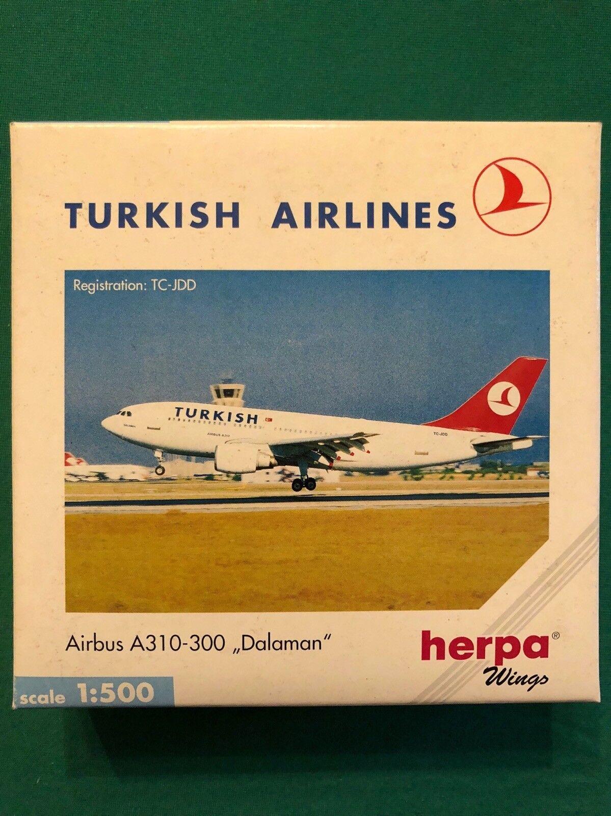 "Airbus A310-300 ""Dalaman"" TC-JDD Turkish Airlines. Herpa Wings 1 500 n.501064"