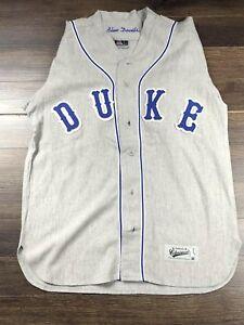 san francisco 82571 33a22 Details about Rare Duke Baseball Jersey Size L Colosseum Blue Devils