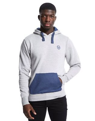 Sergio Tacchini Mens Shawn Hoody Jumper Pullover Hooded Sweatshirt Hoodie Grey